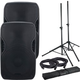 American Audio ELS-GO 15BT Battery-Powered Speakers w/ Gator Stands