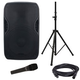 American Audio ELS-GO 15BT Battery-Powered Speaker & Stand w/ Vocal Mic