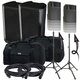 Peavey DM115 Speakers & Ultimate TS-100-B Stands w/ Gator Totes
