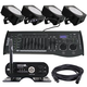 Mega Lite Color Pac 150W IP65 Light 4-Pack with Transceiver & Controller