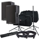 Cerwin Vega CVX-15 15-Inch Powered Speakers (x2) w/ Gator Totes & Stands