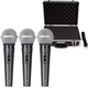 American Audio VPS-20 Dynamic Mic 3-Pack w/ Case
