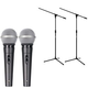 American Audio VPS-20 Dynamic Mic Pair with Stands