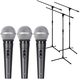 American Audio VPS-20 Dynamic Mic 3-Pack with Stands