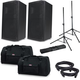 American Audio ATX-15W Powered Speakers w/ Gator Totes & Stands