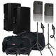 Mackie Thump15A Speakers & Ultimate TS-100-B Stands w/ Gator Totes