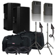 Mackie Thump15BST Speakers & Ultimate TS-100-B Stands w/ Gator Totes