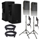 Mackie Thump12BST Speakers & Ultimate TS-100-B Stands w/ Gator Totes