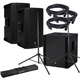 Mackie Thump12BST Powered Speakers (x2) & Thump18S Sub w/ Gator Stands