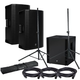 Mackie Thump15A Powered Speakers (x2) & Thump18S Sub w/ Gator Stands