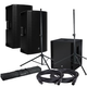 Mackie Thump15BST Powered Speakers (x2) & Thump18S Sub w/ Gator Stands