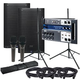 PreSonus Air12 Speakers (x2) & Gator Stands w/ Soundcraft Ui12 Mixer & Mics