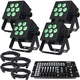 Blizzard HotBox 5 RGBAW LED Wash Light 4-Pack System With DMX Controller