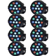 Solena Mini Par 12 RGBW LED Wash Light 8-Pack