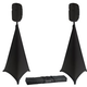 "Gator Complete 15"" Speaker Stands with Stretch Cover Set Black"