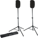 "Gator Speaker Stands with 15"" Speaker Stretch Covers Black"