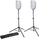 "Gator Speaker Stands with 15"" Speaker Stretch Covers White"