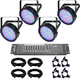 Chauvet SlimPAR 64 LED Wash x 4 Complete Lighting System