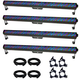 Chauvet COLORrail IRC LED Bar 4-Pack with Clamps & DMX Cables