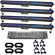 Chauvet COLORrail IRC LED Bar x 4 Complete Lighting System
