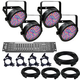 Chauvet SlimPAR 56 x 4 Complete LED Wash and Stage Lighting System