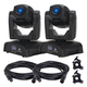 ADJ American DJ Pocket Pro 25W LED Moving Head Light 2-Pack w/ Accessories