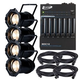 ADJ American DJ Par ZP100 3K LEd Par 4-Pack with Accessories