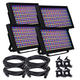 ADJ American DJ Profile Panel RGBA LED Wash 4-Pack w/ Accessories