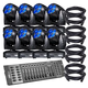 Eliminator Stealth Craze LED Moving Head 8-Pack Lighting System