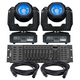 Eliminator Stealth Beam LED Moving Head 2-Pack Lighting System