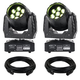 Eliminator Stealth Wash Zoom LED Moving Head 2-Pack with Cables