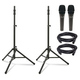 Ultimate TS-100 Speaker Stands with Mics and Cables