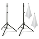 Ultimate TS-100 Speaker Stands with White Scrims