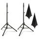 Ultimate TS-100 Speaker Stands with Black Scrims