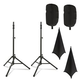 Ultimate TS-100 Stands with Complete Stretch Covers Set Black