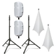 Ultimate TS-100 Stands with Complete Stretch Covers Set White