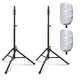 "Ultimate TS-100 Speaker Stands with 15"" Stretch Speaker Covers White"