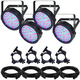 Chauvet SlimPAR 64 LED Wash 4-Pack with Accessories