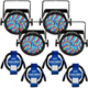 Chauvet SlimPAR 56 IRC IP LED Wash Light 4-Pack w/ IP Rated Cables