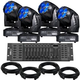 Eliminator Stealth Craze LED Moving Head 4-Pack Lighting System