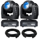 Eliminator Stealth Beam LED Moving Head 2-Pack with Cables