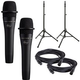 Ultimate TS-100 Stands with Blue Encore 100 Black Mics and Cables
