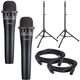 Ultimate TS-100 Stands with Blue Encore 100i Black Mics and Cables