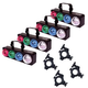 Solena Quad Wave LED Effect Light 4-Pack with Clamps