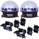 Solena Crystal Dome LED Effect Light 2-Pack with Clamps