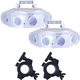 Solena Crystal Flower LED RGBW Effect Light 2-Pack with Clamps