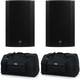 Mackie Thump15A 15-Inch Powered Speakers with Gator Totes