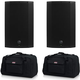 Mackie Thump12A 12-Inch Powered Speakers (x2) with Gator Totes