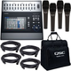 QSC TouchMix 30 Digital Mixer & Bag w/ Mic 4-pack