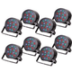 Solena Max Par 54 18x3W DMX RGB LED Light 8-Pack